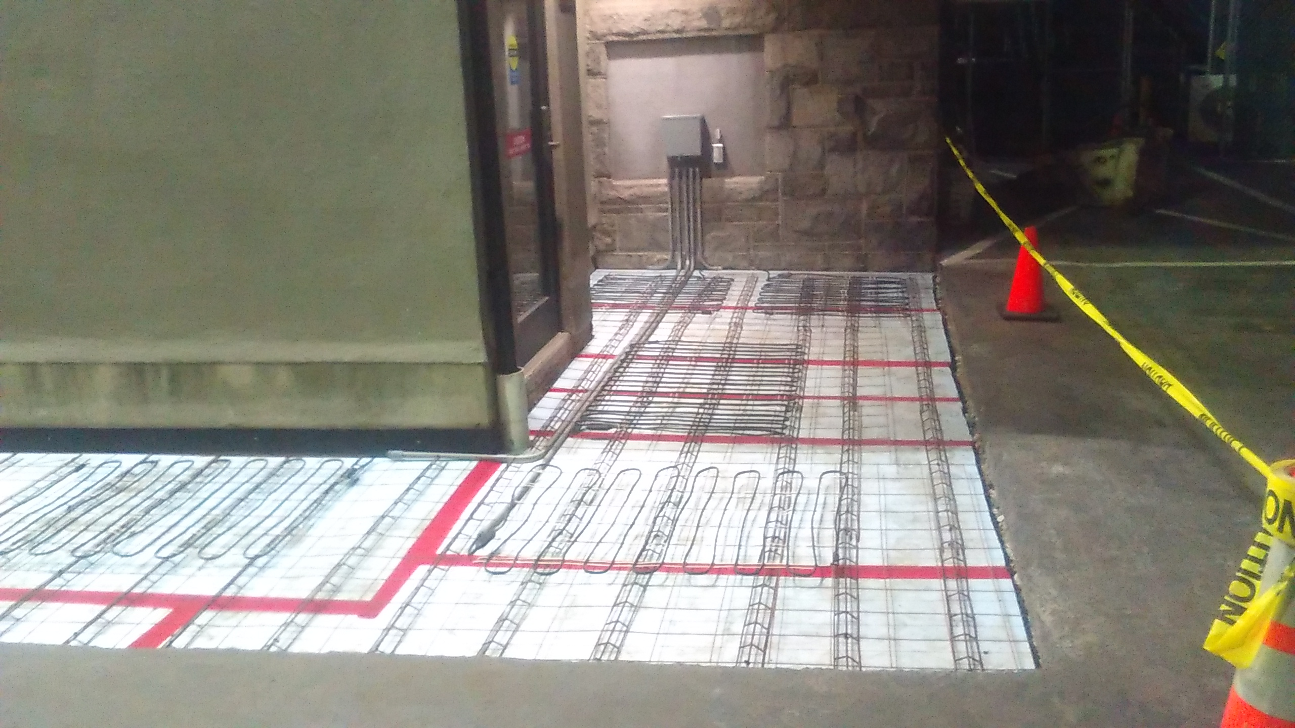 Electrically Heated Sidewalks Or Walkways By Able Group Inc