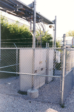 Fence And Bollard Pole Protection For Electrical Equipment