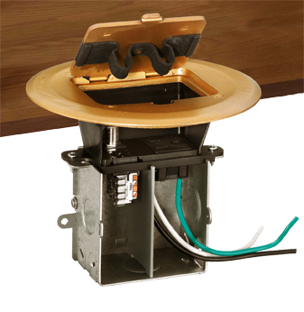 Electrical floor box for concrete electrical free engine for Floor electrical outlet